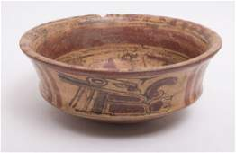 Ancient Pre-Columbian Mayan Decorated Bowl c.600-900 AD