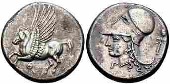 Ancient CORINTHIA, Corinth. Circa 375-300 BC. AR Stater