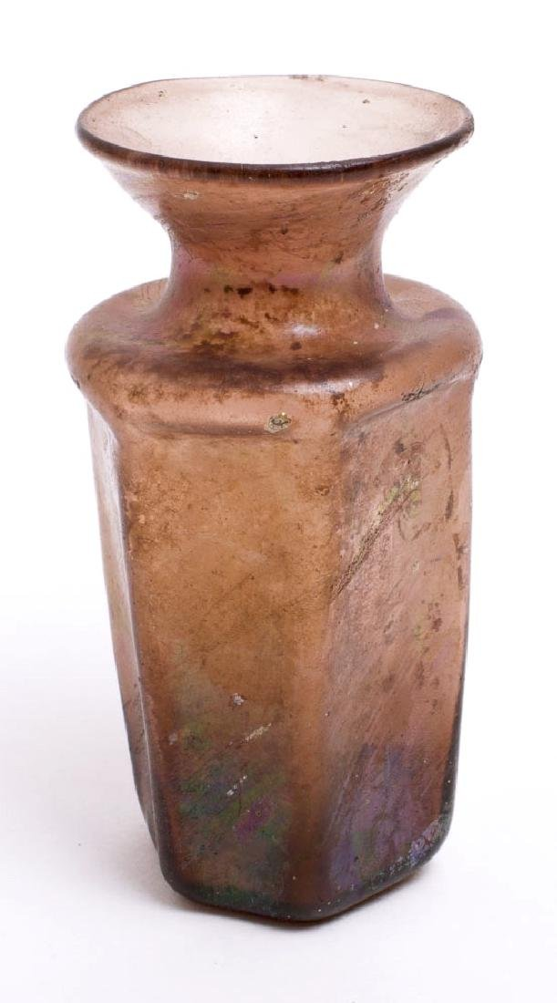 Ancient Roman aubergine color jar With Star Of David