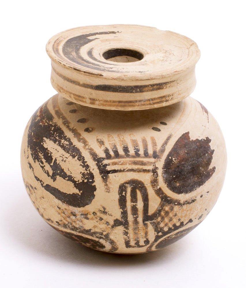 Ancient Corinthian Pottery Aryballos c.5th century BC