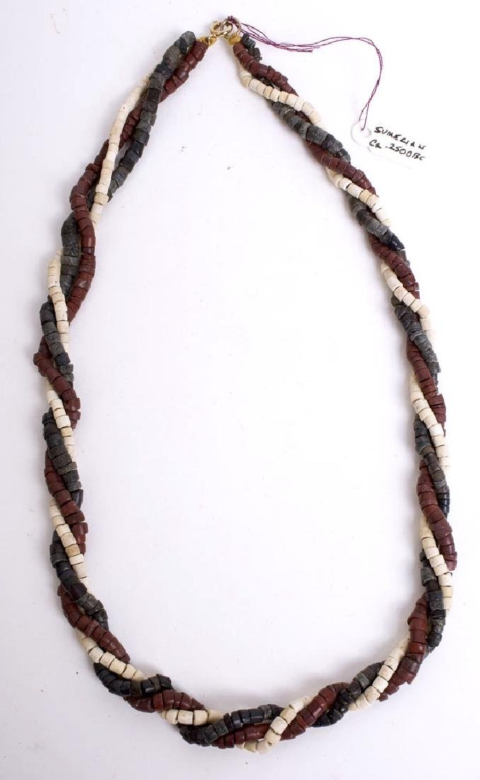 Ancient Sumerian Stone Beads Necklace c.3000 BC