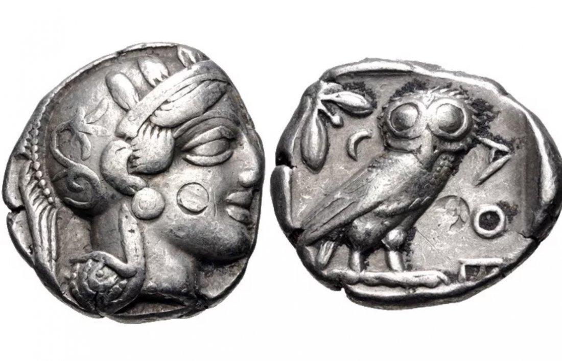 Ancient ATTICA, Athens. Circa 454-404 BC. Silver coin