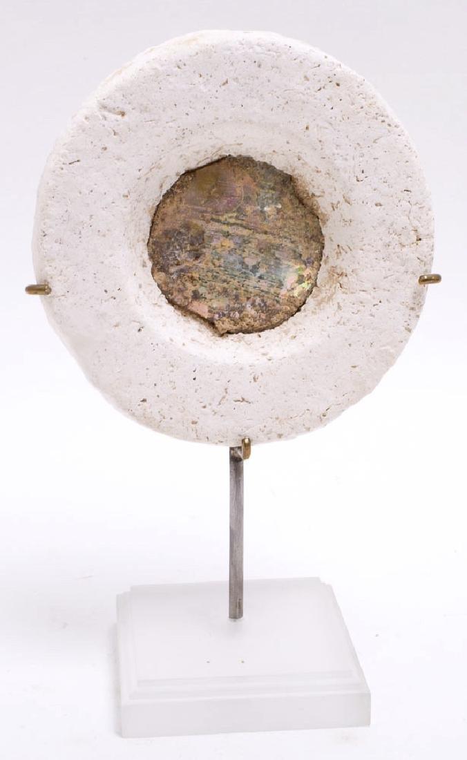 Ancient Byzantine Glass Mirror c.5th century AD