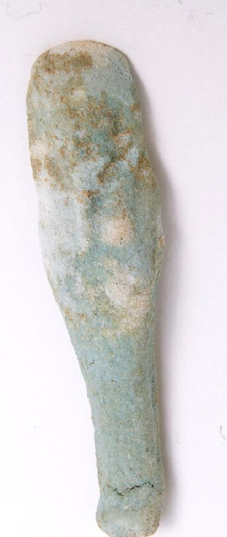 Ancient Egyptian Blue Faience Ushabti c.600-30 BC.