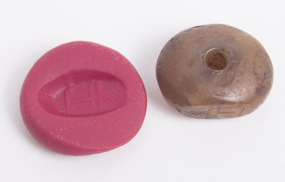 Ancient Sasanian Agate Stamp Seal c.6th century AD.