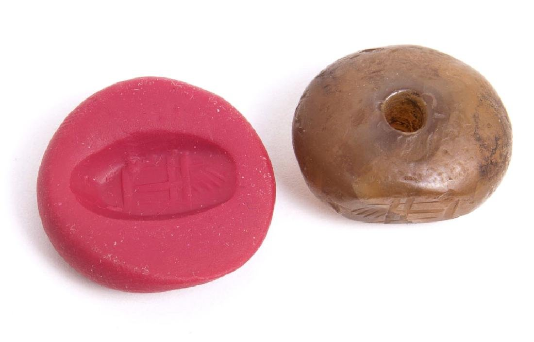 Ancient Sasanian Agate Stamp Seal c.6th century AD. - 2
