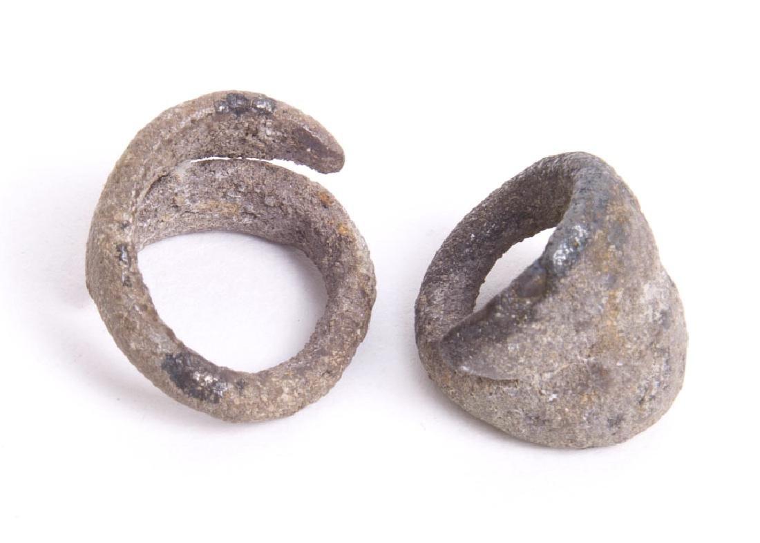 Ancient Palestine Deir-el-Balah Silver Earrings c.2200