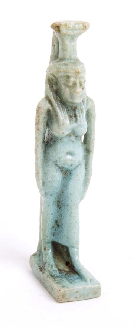Ancient Egyptian Faience Amulet of Isis c.700 BC