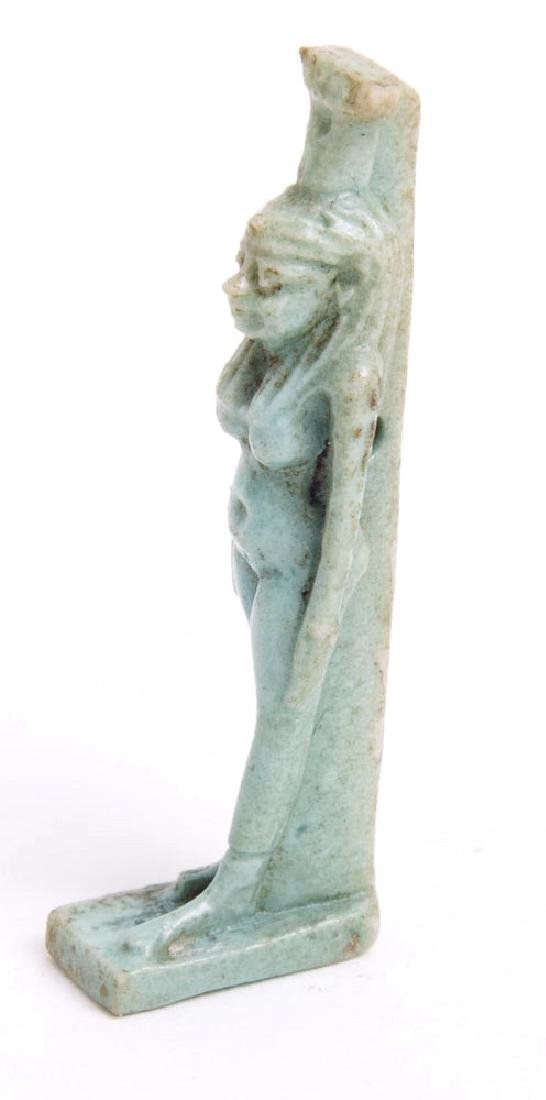 Ancient Egyptian Faience Amulet of Isis c.700 BC - 2