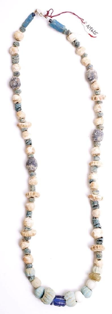 Ancient Islamic Faience and Glass Beads Necklace c.7th