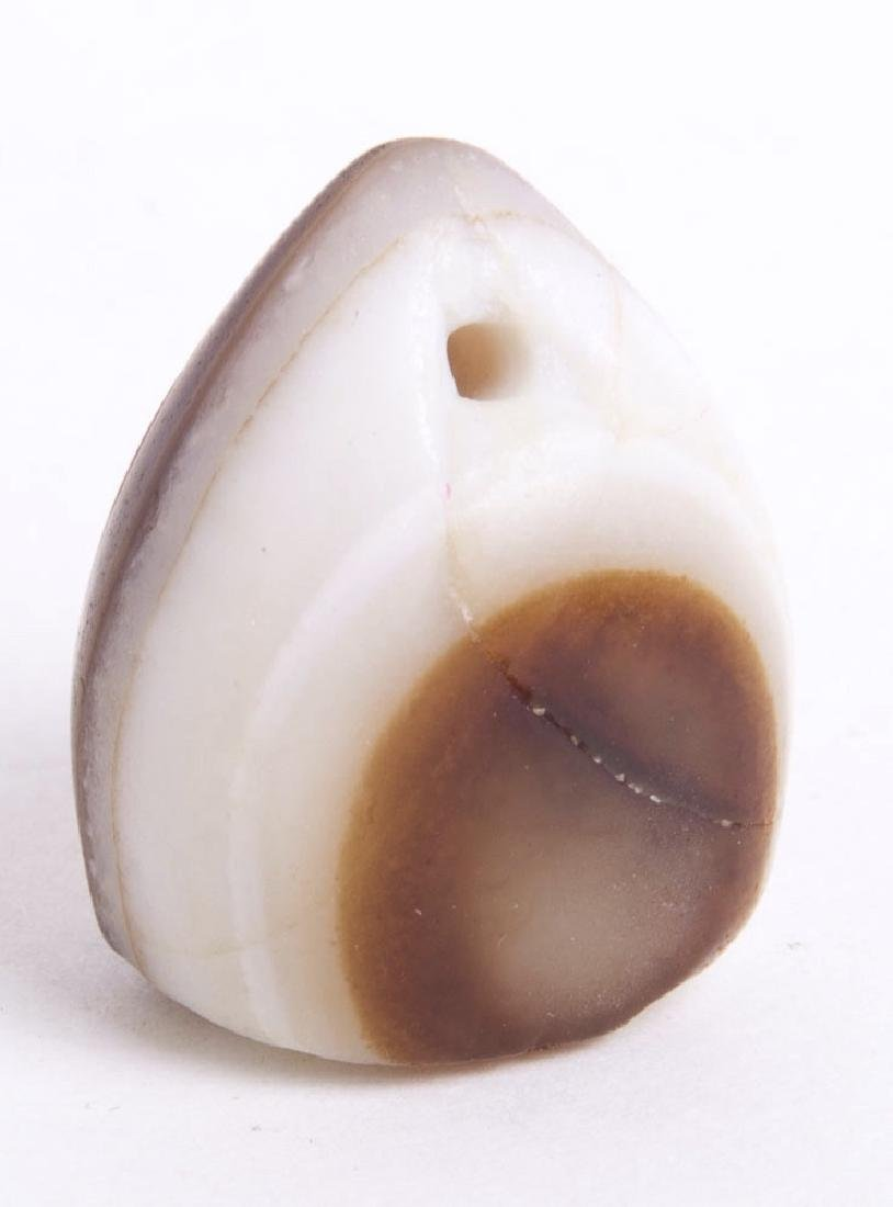 Ancient Islamic Agate Stamp Seal with Arabic c.7th c AD