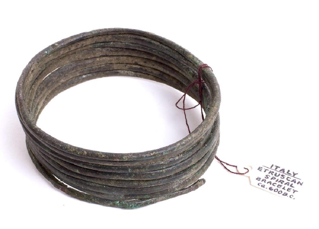 Ancient Etruscan Bronze Bracelet c.600 BC.