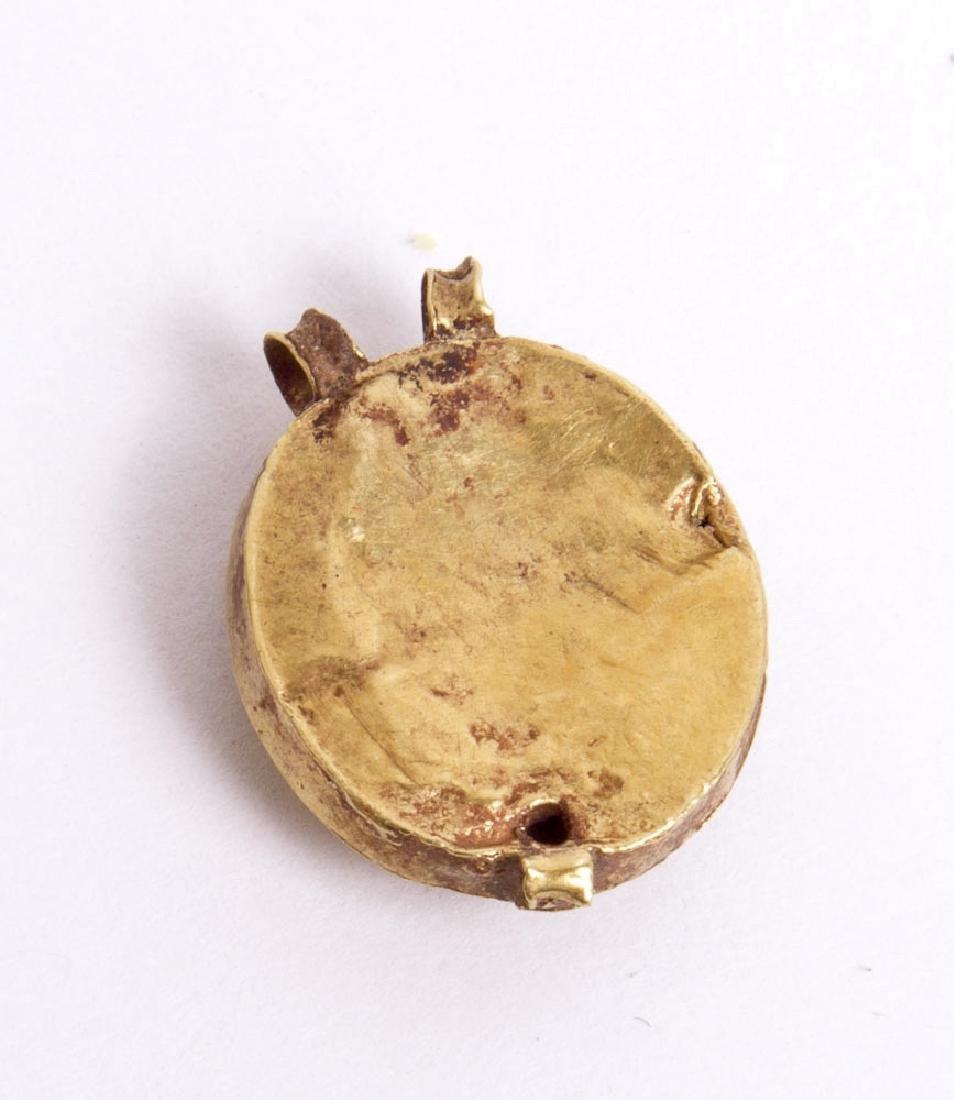 Ancient Roman Gold Pendant with Garnet c.1st century AD - 2