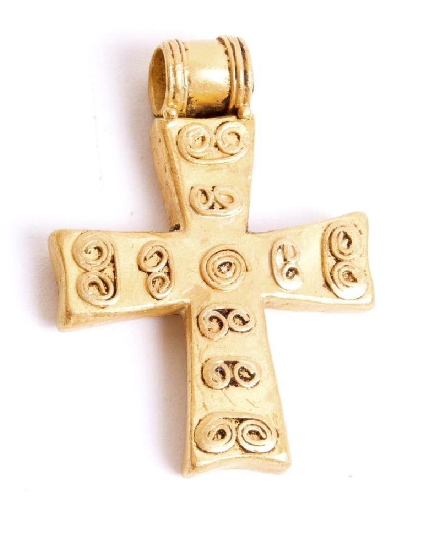 Ancient Byzantine Gold Cross c.6th century AD