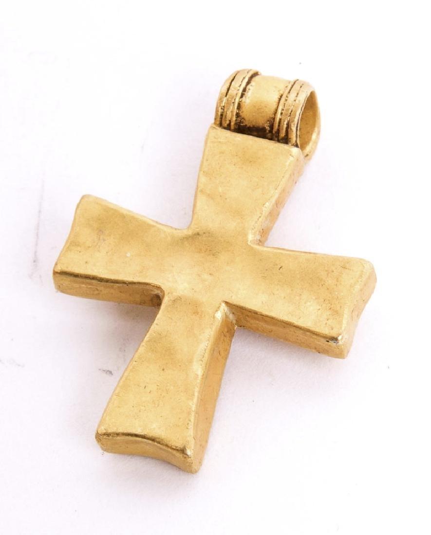 Ancient Byzantine Gold Cross c.6th century AD - 2