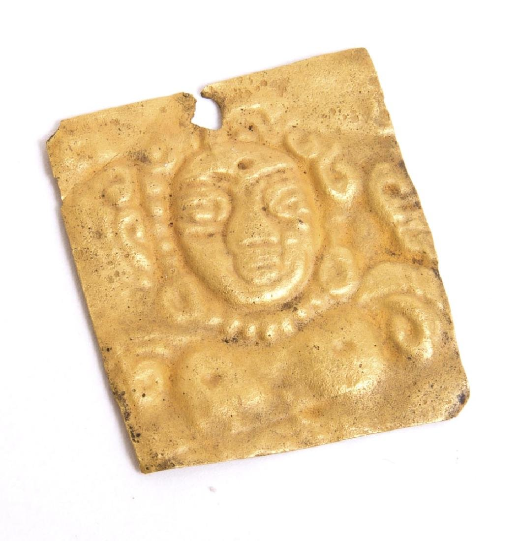 Ancient Bactrian gold Plaque with figure c.2nd cent BC