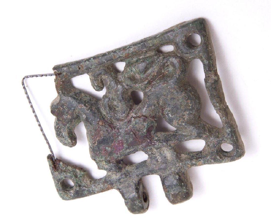 Ancient Hungary Avar Bronze Mythical Beast Belt Hanger