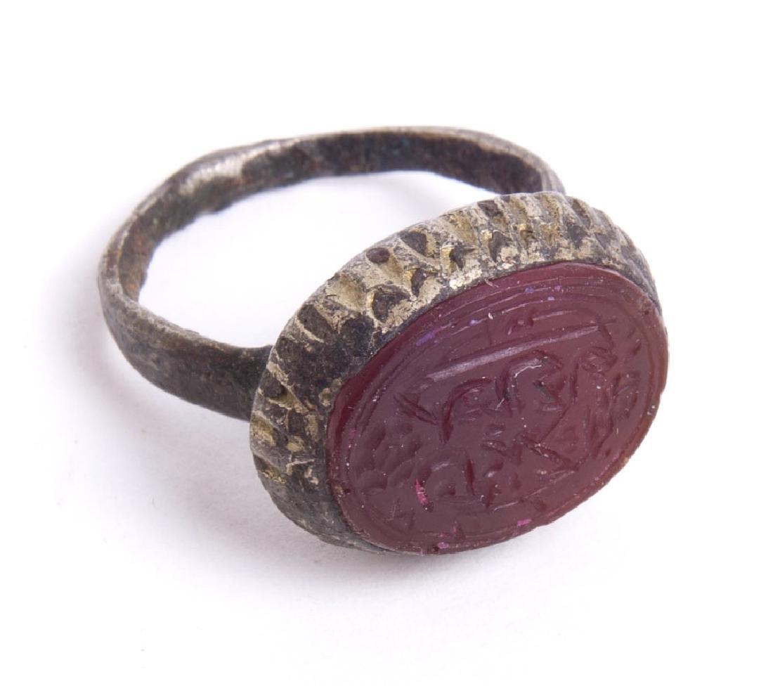 Islamic Persian Safavid Dynasty Silver ring with Seal