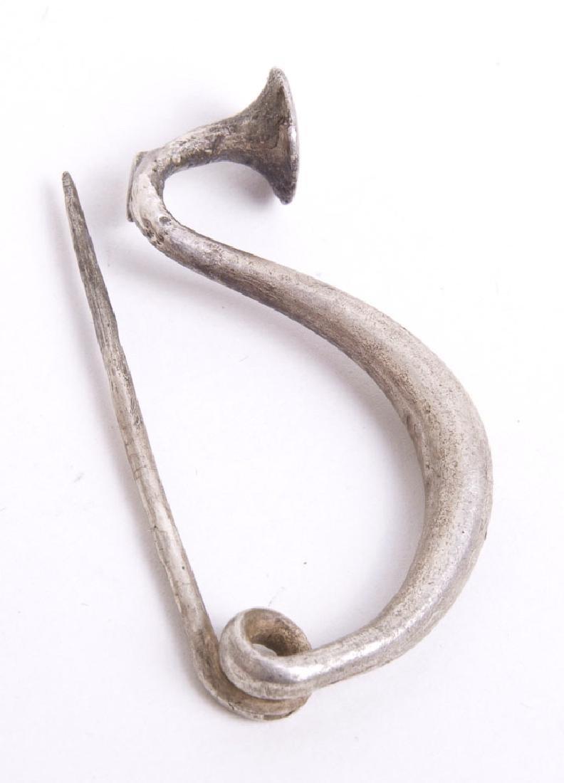 Ancient Europe Halstatt Period Silver Fibula c.6th cent - 2