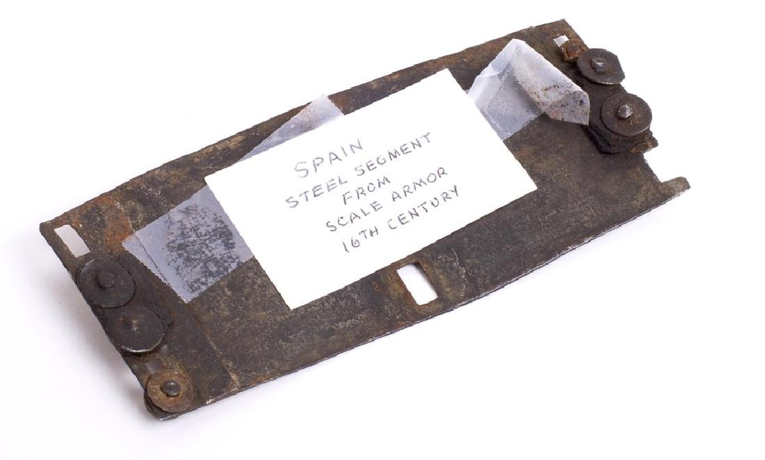 16th century Spain Steel Segment from Scale Armor - 2