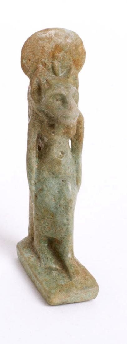 Ancient Egyptian Faience Sekhmet Amulet c.664 BC