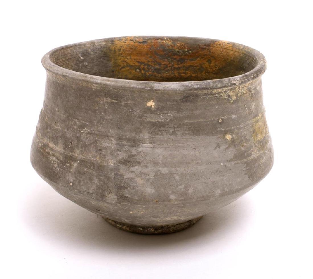 Ancient Rhineland Frankish Biconical Grayware Bowl
