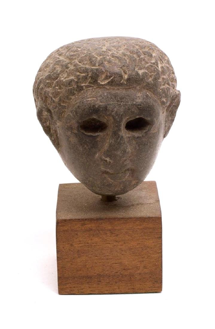 Rare Ancient Greek Stone head of a Youth c.4th cent BC.