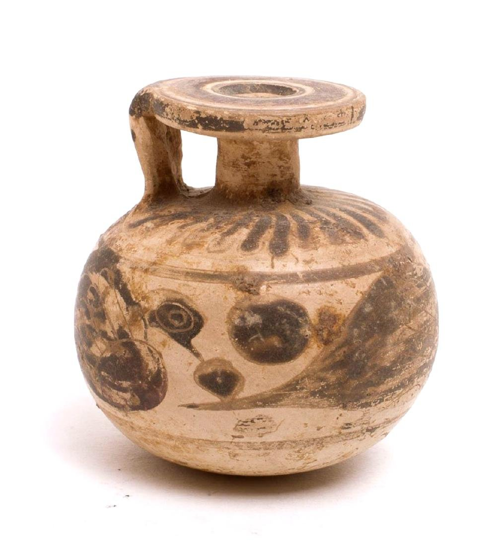 Ancient Corinthian Aryballos Ca. 5th Century BC.