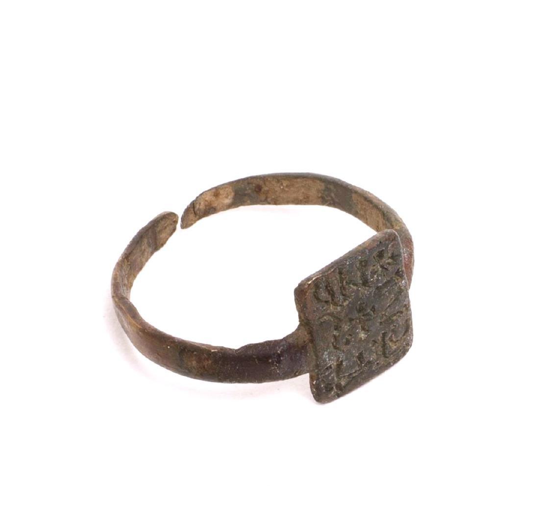 Visigothic Spain Bronze Seal Ring c.6th century AD.