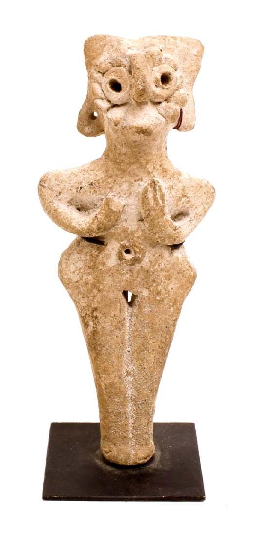 Ancient Terracotta Ashtar Bird-Face Idol c.3rd Millenni