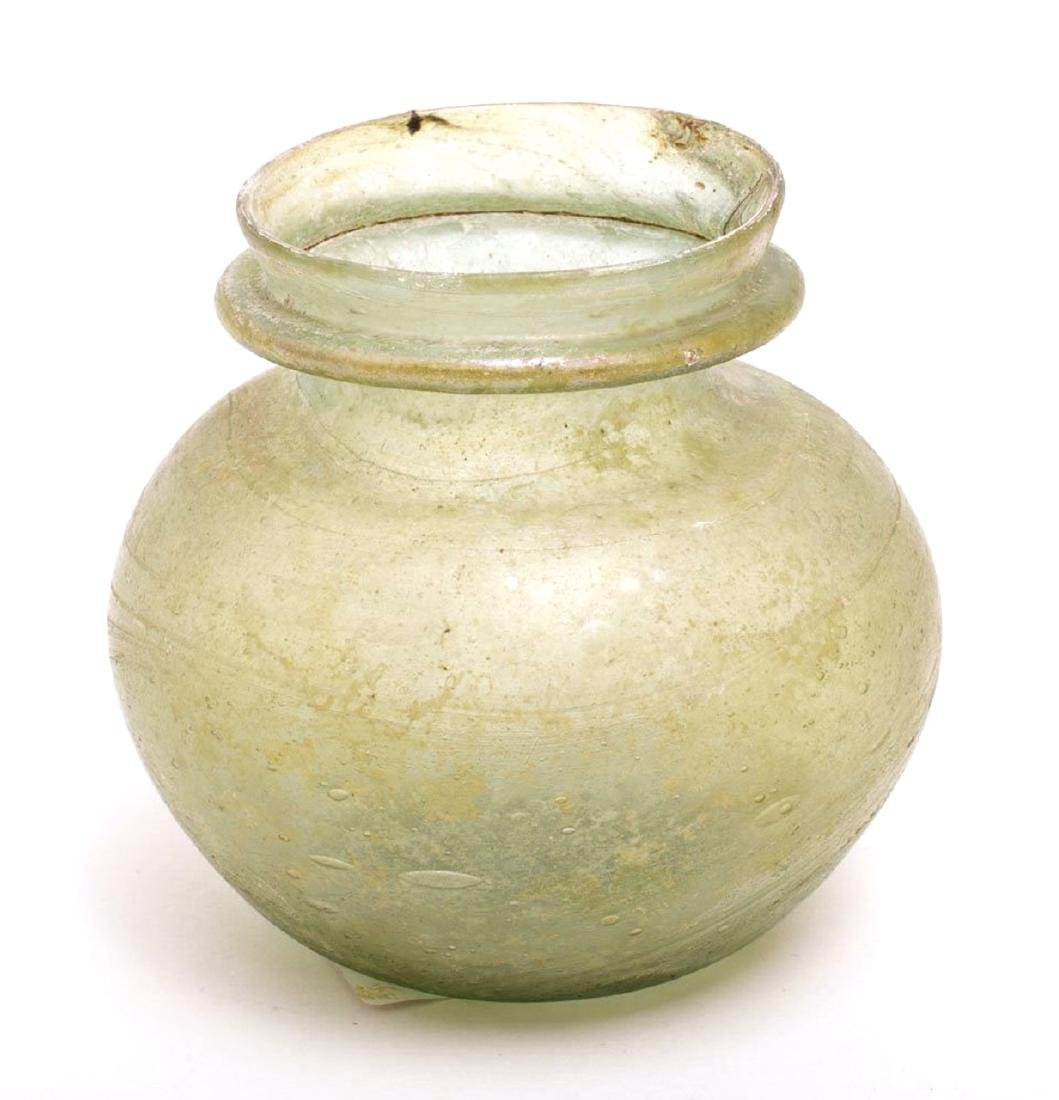 Ancient Roman Glass Jar c.1st-2nd century AD.