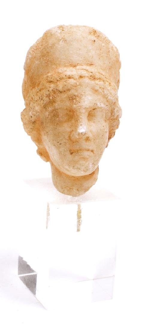 Ancient Roman Marble Head of a goddess c.1st century AD