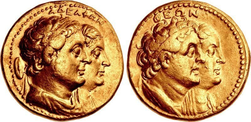 PTOLEMAIC KINGS. Ptolemy II Philadelphos, Gold Coin