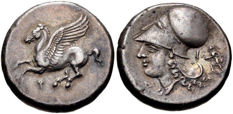 Ancient CORINTHIA, Corinth c.375-300 BC. Silver Stater