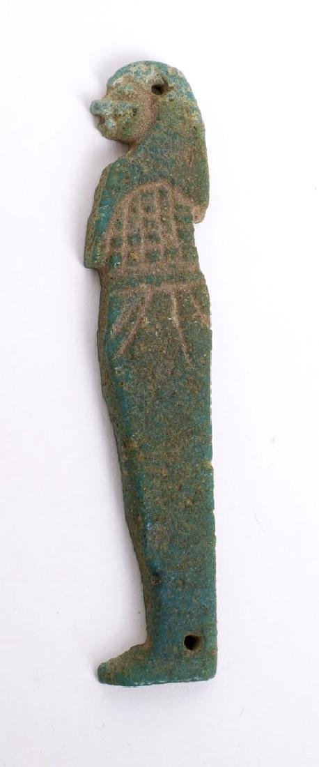 Ancient Egyptian Faience Amulet of Son of Horus c.700 B