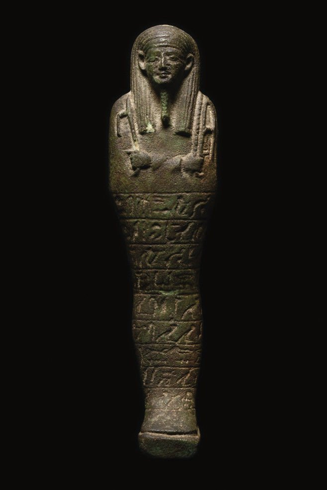 Large Ancient Egyptian Faience Ushabti Figure c.700 BC