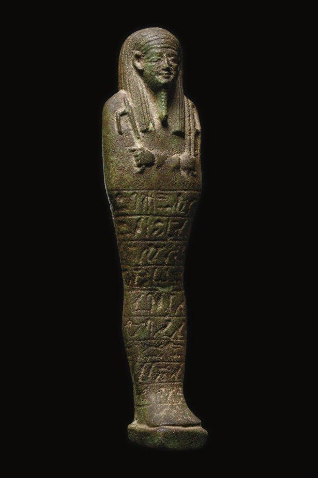 Large Ancient Egyptian Faience Ushabti Figure c.700 BC - 2