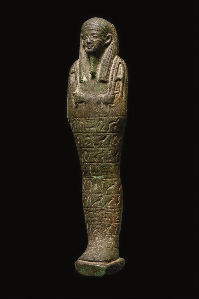Large Ancient Egyptian Faience Ushabti Figure c.700 BC - 3