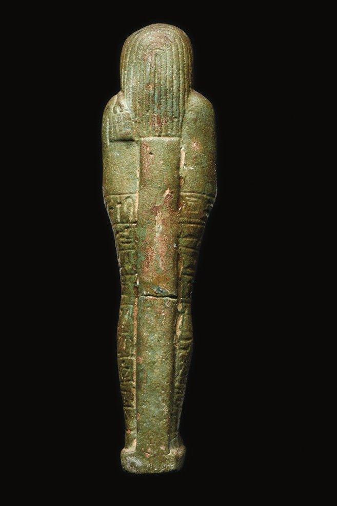 Large Ancient Egyptian Faience Ushabti Figure c.700 BC - 4