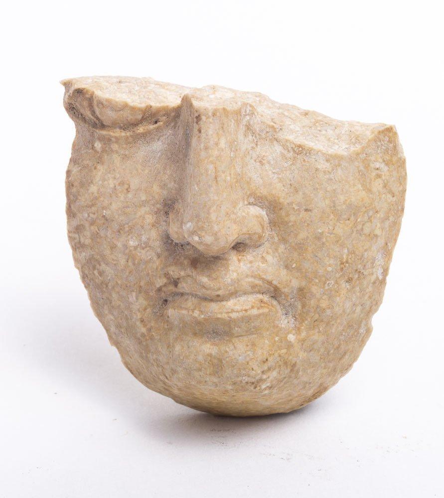 Ancient Greek Stone Face Fragment c.4th century BC. Siz