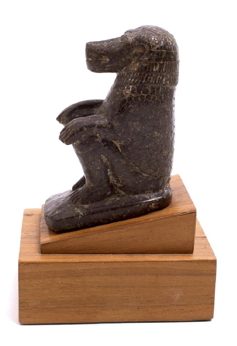 Ancient Egyptian Serpentine Stone Baboon c.700 BC - 2