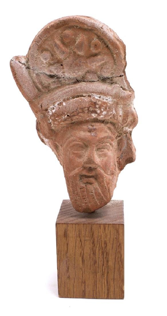Ancient Roman Egypt Head of Bearded Man Ca. 1st to 2nd
