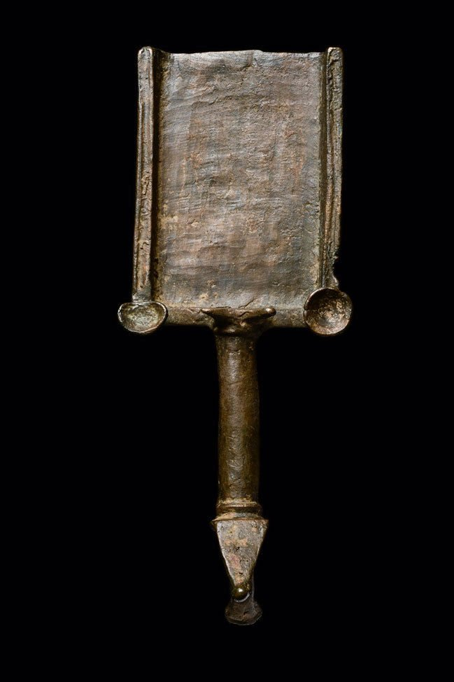 Ancient Roman Judaic Bronze Incense Shovel ca. 1st cent