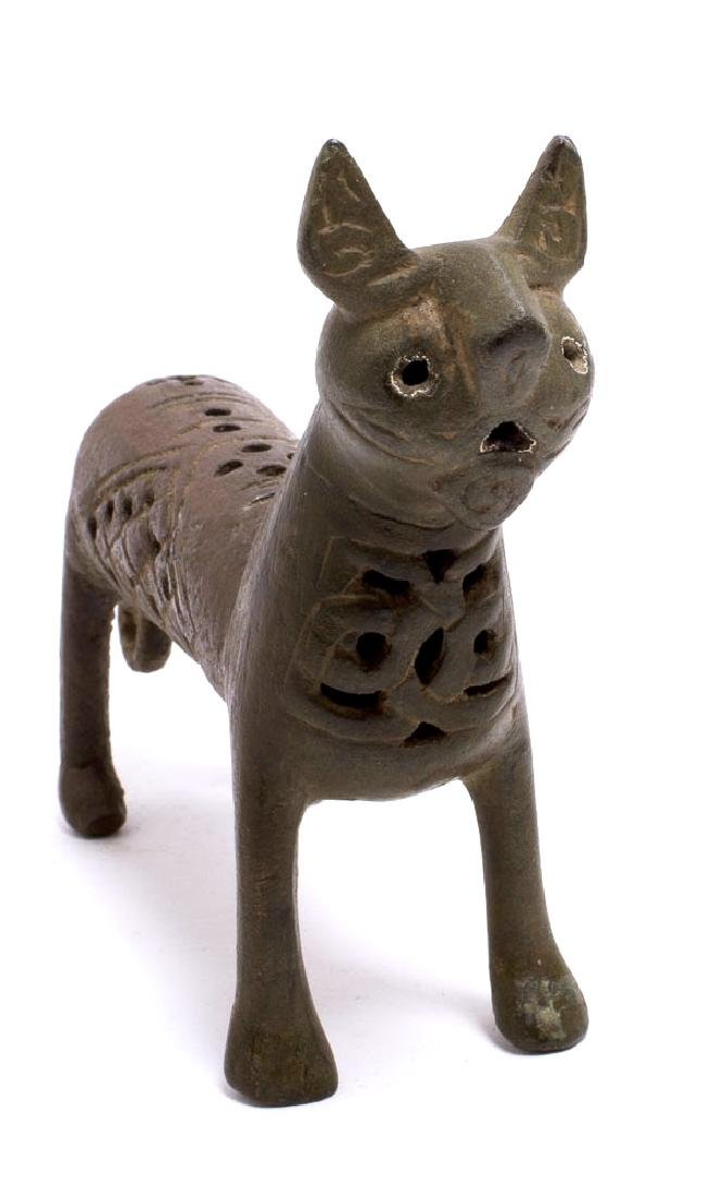 Ancient Islamic Seljuk bronze Lion c.12th century AD.