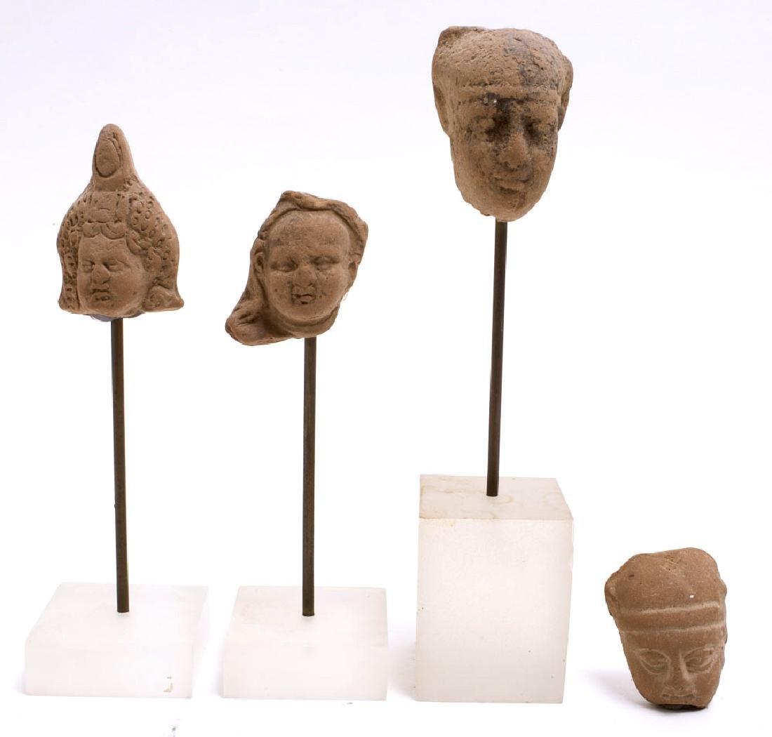 Lot of 4 Ancient Roman Egypt Terracotta heads c.200 AD