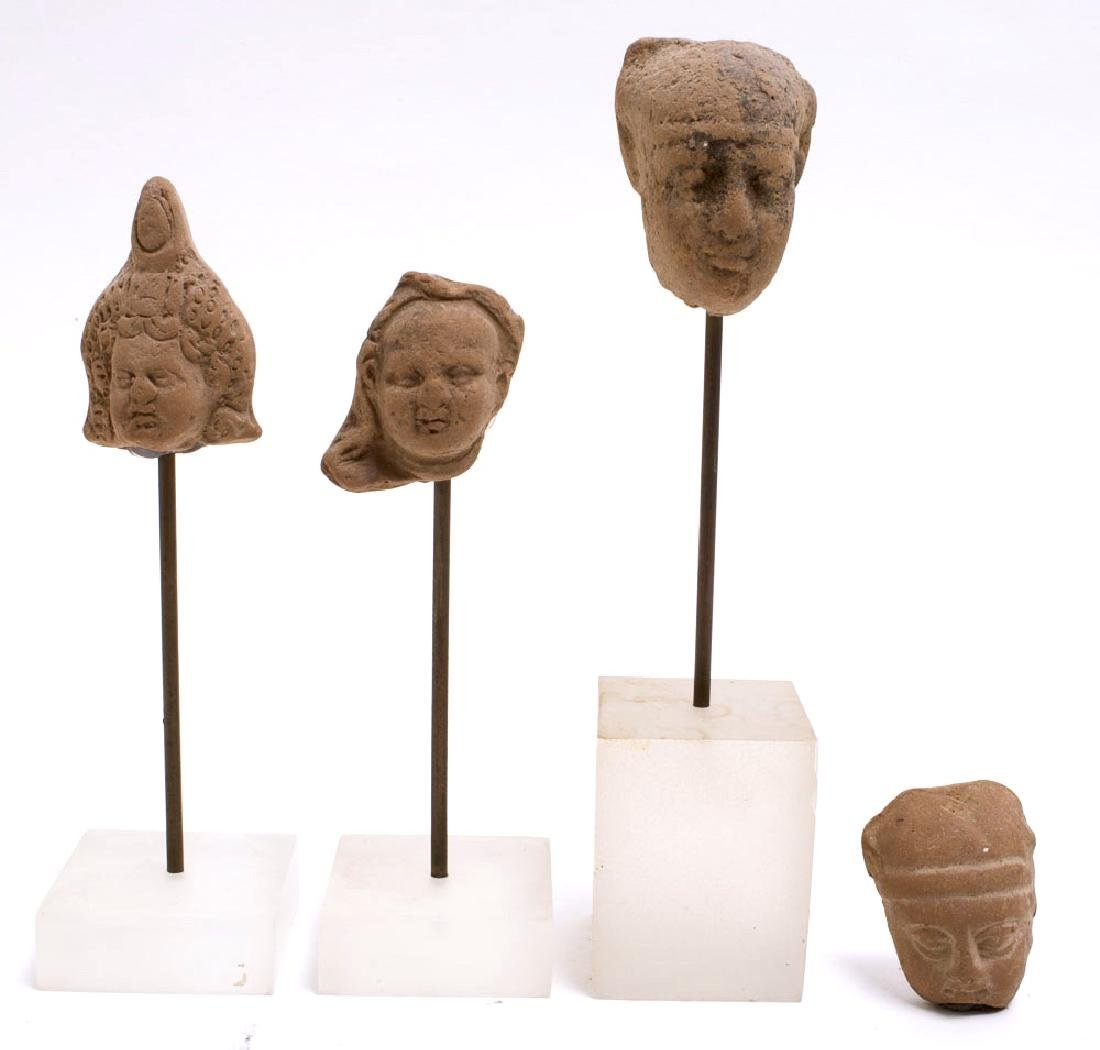 Lot of 4 Ancient Roman Egypt Terracotta heads c.200 AD