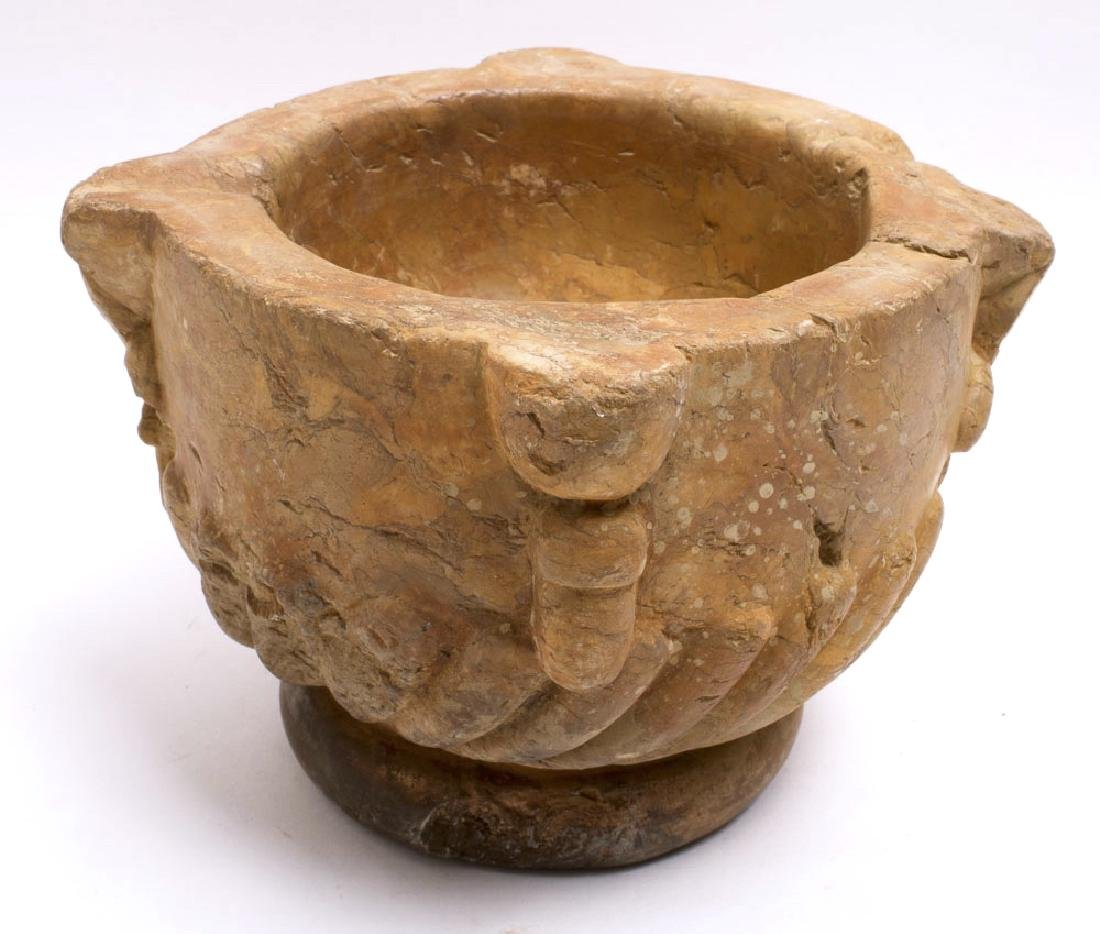 Ancient Byzantine Stone Mortar c.8th-10th century AD