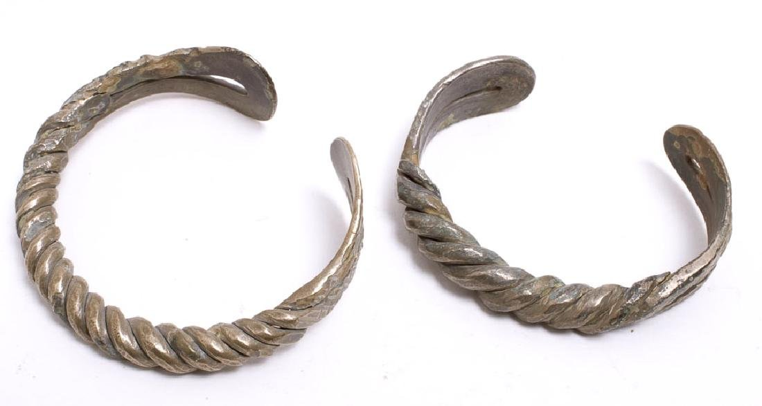 Lot of 2 Ancient Silver Bracelets c.8th century AD