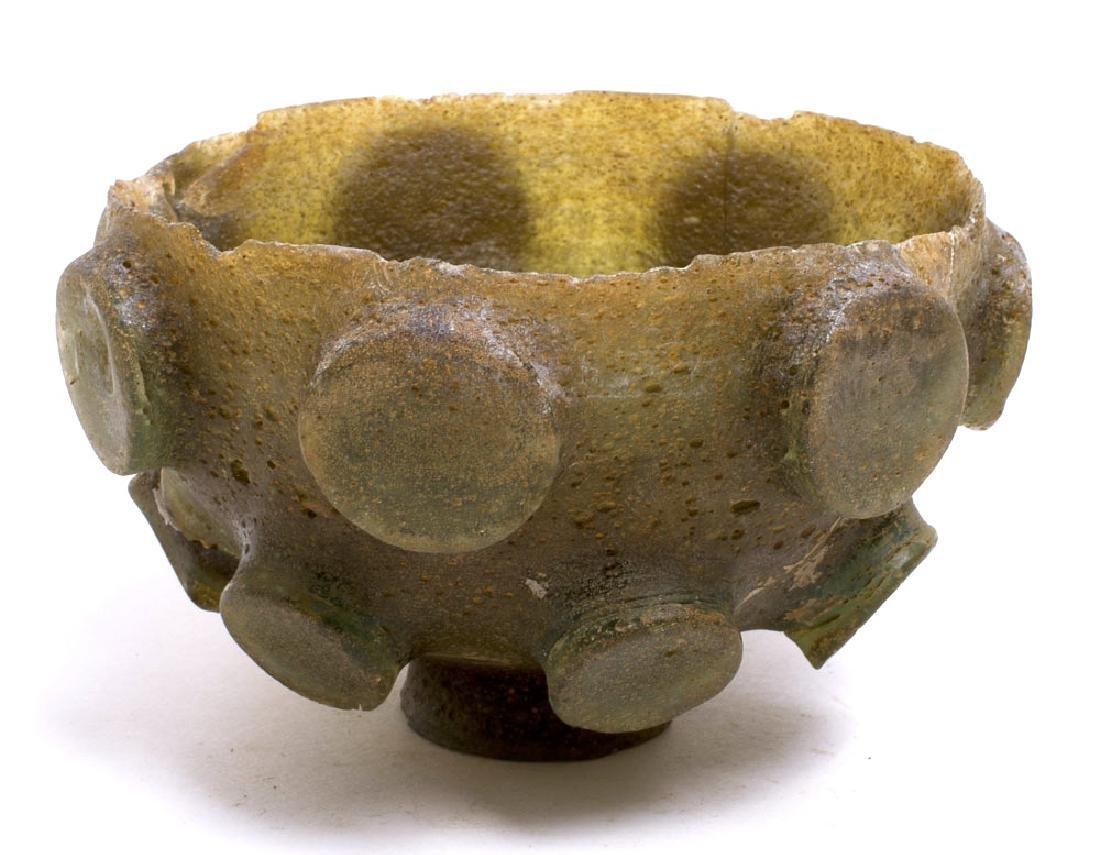 Ancient Sasanian Cut Glass Bowl c.5th century AD