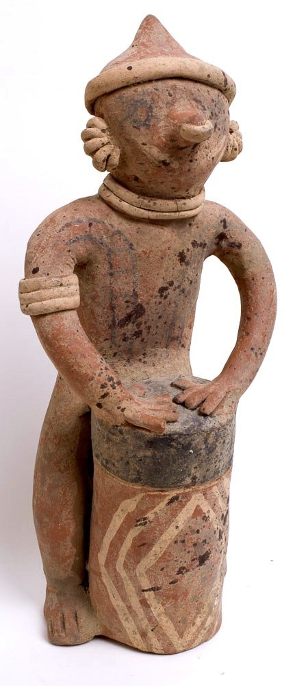 Ancient Pre Columbian Nayarit Pottery Figure c.250 BC